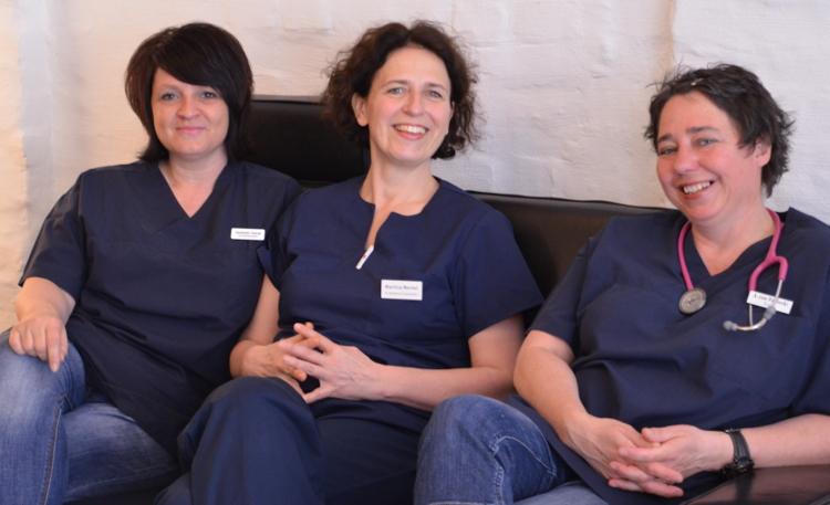 Das Team der Hausarztpraxis von Poblozki